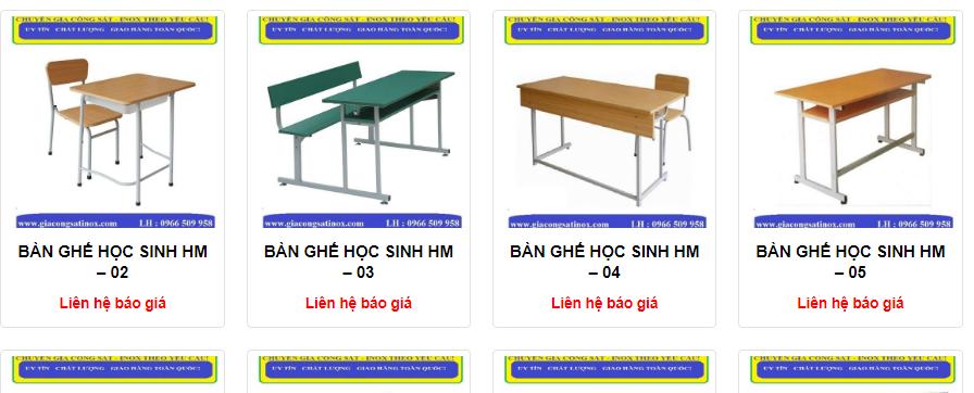 bàn ghế học sinh cao cấp