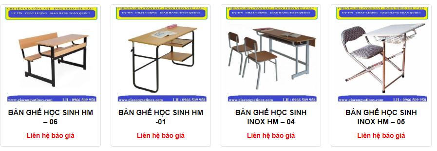Cung cấp bàn ghế học sinh cao cấp