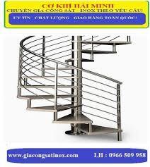 Cầu thang xoắn inox HM-04