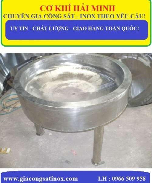CHẢO INOX CÔNG NGHIỆP CÓ CHÂN HM - 38