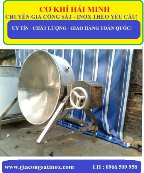 CHẢO INOX CÔNG NGHIỆP CÓ TRỤC QUAY HM - 37