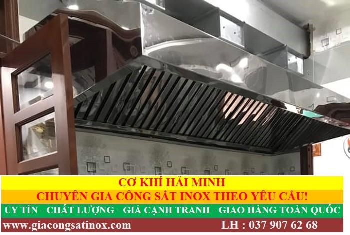 Cơ khí Hải Minh – Địa chỉ gia công chụp hút khói nhà bếp chất lượng uy tín giá rẻ.