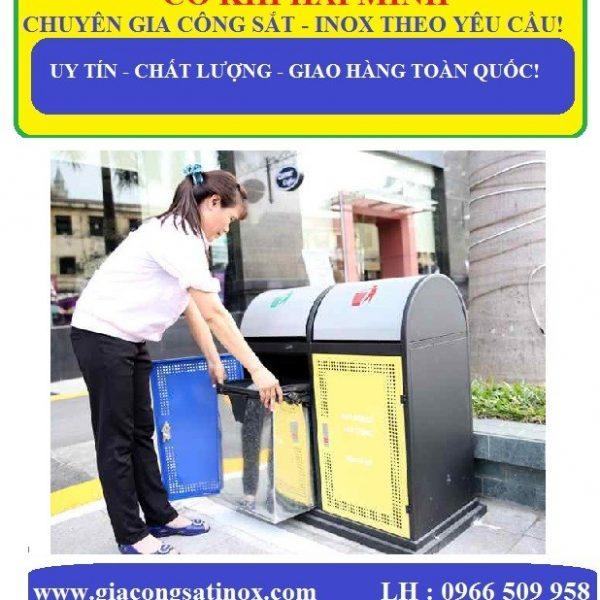 Thùng rác inox thiết kế tiện lợi, đẹp mắt, giá rẻ