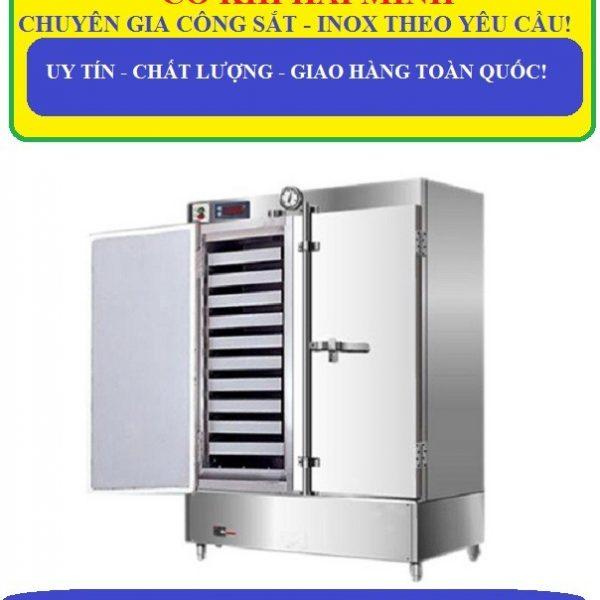 tủ hấp cơm công nghiệp 80kg sử dụng gas