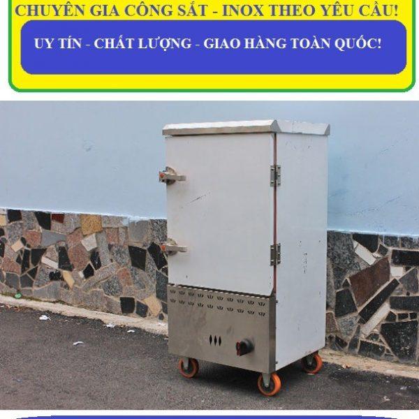 tủ hấp cơm công nghiệp 50kg sử dụng gas