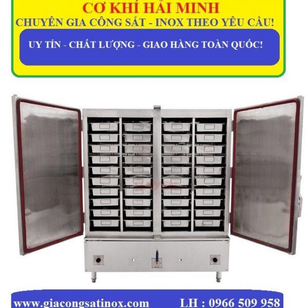 tủ nấu cơm công nghiệp 100kg sử dụng điện và gas