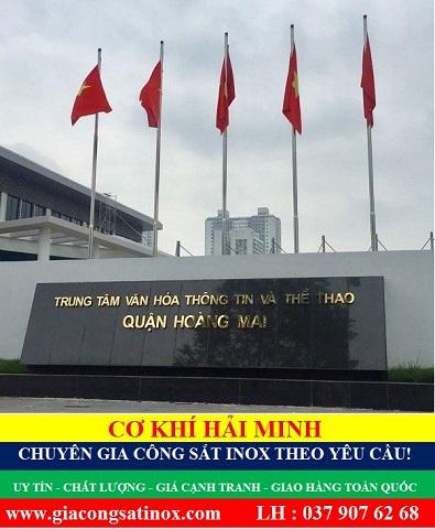 Báo giá cột cờ inox 304 chất lượng giá rẻ TPHCM Vũng Tàu Đà Nẵng