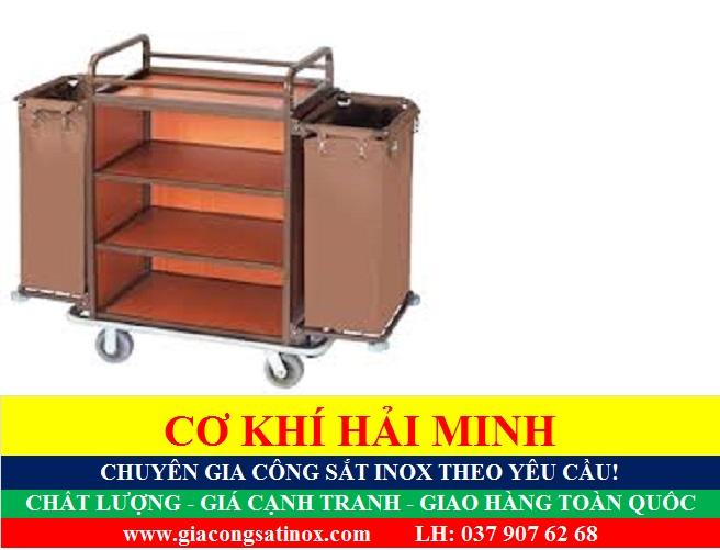 Xe đẩy thu dọn thức ăn chất lượng giá rẻ TPHCM Vũng Tàu Đà Nẵng